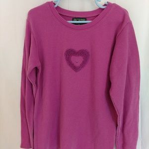 Children's Place Girls Long Sleeve Heart Top